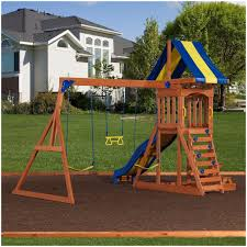 backyards enchanting kids outdoor wooden 2 playhouse canada