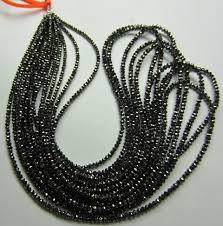 wholesale beaded necklace images Faceted black diamond beads necklace from gemone diamonds online jpg