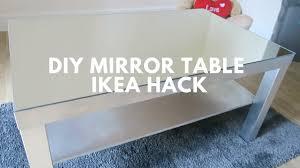 diy mirror table ikea hack youtube