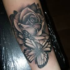 download free will nash tattoos u0026 art u2014 rose and butterfly on