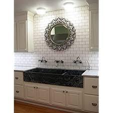 Subway Tile Backsplash In Kitchen White Crackled Bevelled 3x6 Subway Tile Backsplash Kitchen Walls