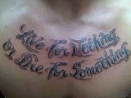75 adorable wording tattoos for chest