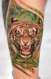 tiger on half sleeve tiger sleeve