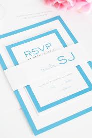 blue wedding invitations with modern monogram u2013 wedding invitations