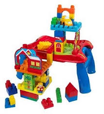 mega bloks first builders table mega bloks first builders 3 in 1 build n learn table amazon co uk