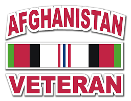 afghanistan ribbon veteran with ribbon decal
