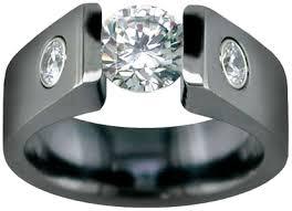 black titanium prepare wedding dresses black titanium wedding ring says i do