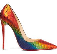 christian louboutin rainbow python so kate 120 pumps fashion runway