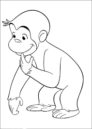 print u0026 download curious george in the lift coloring pages