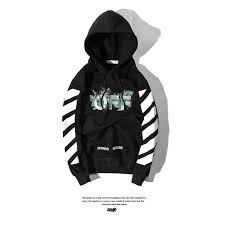 buy cheap off white owcova leaves embroidery black hoodie online