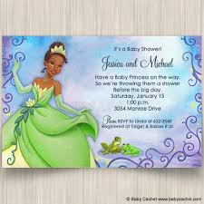 frog baby shower princess and frog baby shower invitations baby cachet