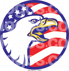 Flag Circle Royalty Free Vector Of A Bald Eagle American Flag Circle Logo By