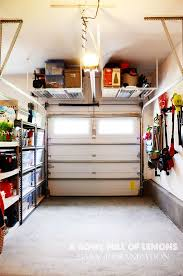 garage awesome garage organization systems ideas small love this tuck up and away shelving in the garage to keep things off