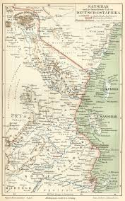 Konstanz Germany Map by German Map Of Zanzibar And German East Africa Tanzania C 1890