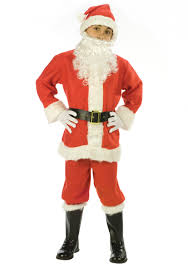 santa costumes santa claus kids costume