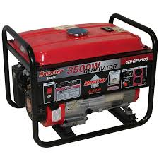 smarter tools 9500w portable generator with electric start and
