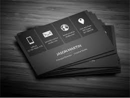 business card template black free dark minimal typography business