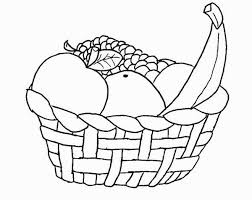 basket of fruits homey idea basket of fruits coloring pages fruit page thanksgiving
