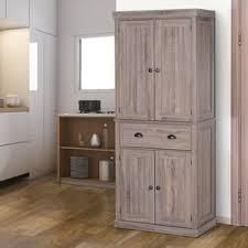 kitchen pantry wood storage cabinets dizon 73 kitchen pantry