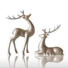 deer home decor couple elk desktop ornament creative resin deer couple for