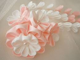 712 best kanzashi hair accessories images on fabric