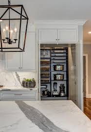 Concealed Walk In Pantry With Bi Fold Doors Transitional Kitchen - Bifold kitchen cabinet doors