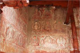 17 alchi murals on outside walls of sumtseg are getting washed away by rains jpg alchi murals on outside walls of sumtseg are getting washed away by rains