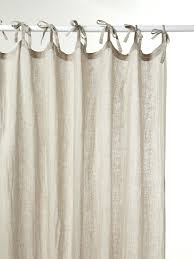 awesome tab top curtains blue muslin linen tie curtain grey home 66 x 54