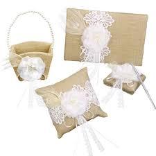 aliexpress com buy 4pcs flower decorated burlap wedding guest