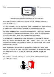 22 free esl television worksheets