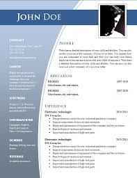 Free Resume Templates Pdf Simple Resume Templates Word Simple Resume Format In Word Resume