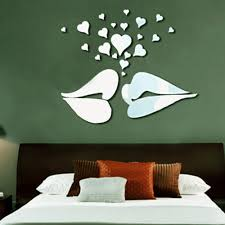 online get cheap marriage wall decals aliexpress com alibaba group mirror decorative wall stickers 3d diy wall decal sticker mural lips heart diy lovers home living