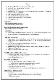 Example Of Accountant Resume by Professional U0026 Experienced Chartered Accountant Resume Sample 2