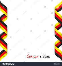 The Germany Flag Colored Ribbon German Tricolor Symbol German Stock Vector