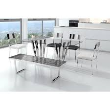 zuo niles stainless steel bench 100336 the home depot