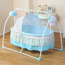 Crib Bed Baby Cradle Newborn Crib Bed Basket Small Shaker Electric Bouncer