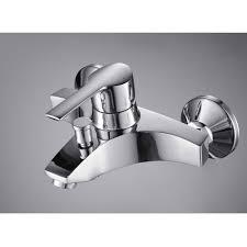 Wall Mounted Bathroom Faucet Single Handle Chrome Wall Mount Bathtub Faucet U2013 Faucetsuperdeal Com