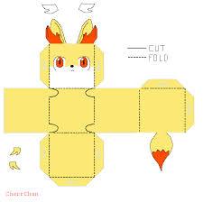 fennekin template papercraft by charrchan on deviantart