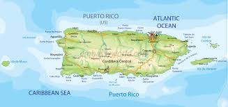 Puerto Rico United States Map by Presentation Name