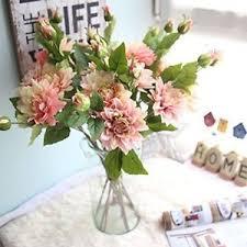 fake flowers for home decor artificial flowers fake silk dahila bouquet gifts wedding part