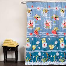 Spongebob Bathroom Decor by Spongebob Squarepants Shower Curtain Underwater Frenzy