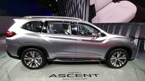 subaru suv price subaru ascent concept suv third row seating review youtube
