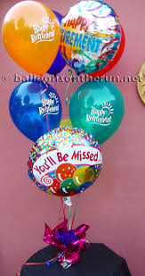 retirement balloon bouquet balloons on the run party decorations r us balloon centerpieces