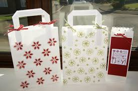 christmas paper bags st on it 12 days of christmas day 7 gift bags