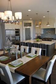Kitchen Dining Lighting Ideas by Kitchen Dining Room Combo Layout Light Fixtures Above Island