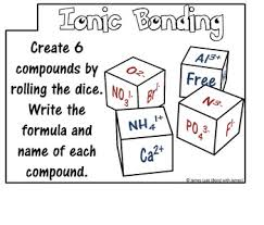 ionic bonding and ionic compound task cards by bond with james tpt