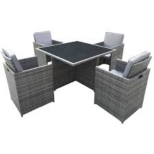 White Wicker Desk by Charles Bentley 4 Seater Rattan Cube Garden Dining Set Robert Dyas