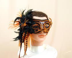orange mardi gras mask orange and black mask mardi gras mask