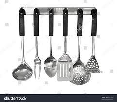 Kitchen Utensils Rack Kitchen Utensils Isolated On White Stock Photo 28011502
