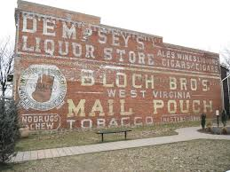 Liquor Signs by Dempseys Liquor Store Mail Pouch Waterloo N Y Ghost Signs On